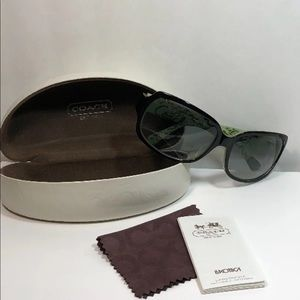 Coach Ginger Sunglasses - Black/Green